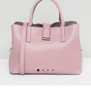 ASOS DESIGN soft pinch lock tote bag